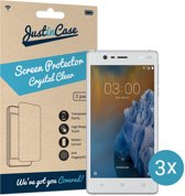 Just in Case Screen Protector Nokia 3 - Crystal Clear - 3 stuks
