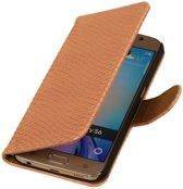 Samsung Galaxy S4 Mini - Slang Roze Bookstyle Wallet Hoesje
