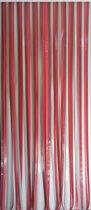 Voordelig vliegengordijn linten bordeaux/rood/grijs 90x220