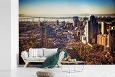 Fotobehang vinyl - Uitzicht op het centrum van San Diego in de Verenigde Staten breedte 390 cm x hoogte 260 cm - Foto print op behang (in 7 formaten beschikbaar)