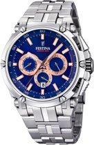 Festina Chronobike Chronograaf F20327/4 - Horloge - Heren - Zilverkleurig - Ø 44 mm