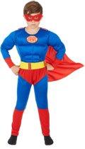 Rood met blauw superhelden kostuum voor jongens - Verkleedkleding - 122/134