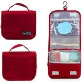 CoshX® Toilettas hang rood jeans - Hangende toilet tas heren dames - hanging toiletbag