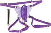 California Exotic Novelties Wire Venus Butterfly - Vibrerend Slipje - Paars - Ø 90 mm