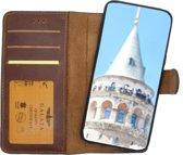 GALATA iPhone XR afneembare 2in1 magneet echt leer bookcase hoesje antiek bruin
