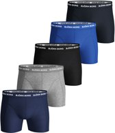 Bjorn Borg Seasonal solids heren boxershorts - 5pack - blauw