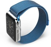 Milanese Loop rvs blauw bandje voor de Apple Watch 42mm - 44mm Watchbands-shop.nl
