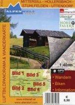 Mittersill - Hollersbach - Stuhlfelden - Uttendorf 1 : 40 000 Luftbildpanorama & Wanderkarte
