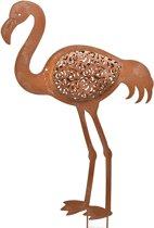 Flamingo met grondpin