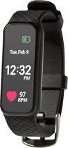Smart Band - sporthorloge - met hartslagsensor - kleurenscherm - Black