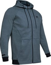 Under Armour Unstoppable 2X Knit FZ Heren Sport Trui - Wire - Maat M