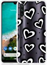 Xiaomi Mi A3 Hoesje Watercolor Hearts