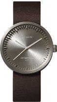 LEFF amsterdam - Horloge - Tube Watch D38 - Staal met Bruin leren band - Ø 38mm - LT71002