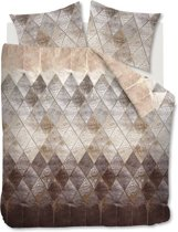 At Home Tense - Flanel - Dekbedovertrek - Lits-jumeaux - 240x200/220 cm + 2 kussenslopen 60x70 cm - Natural