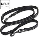 Truelove trainingsriem maat M - uitlaat riem - zwarte honden riem - zwarte riem - riem voor de hond - trainingslijn - politie lijn - verstelbare lijn - verstelbare honden riem - gratis hondenkoekjes
