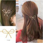 Haarclip Gouden Strik - Leuke styling Haarschuifje - haarspeld - Haarschuif - Metaal Haar Accessoire Clip - 1 stuks Strikje