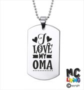 Ketting RVS - I Love My Oma