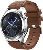 watchbands-shop.nl Siliconen bandje - Samsung Gear S3 - chocoladebruin