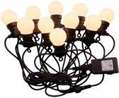 LED Prikkabel 5 meter met stekker, Incl. 10x 0,5w LED Lampen, 3000K Warm Wit, 300 Lumen, IP44