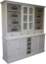 HSM Collection Buffetkast met manden - wit