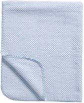 Meyco Stripy Pepita wiegdeken - 75 x 100 cm - blauw
