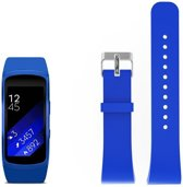 Just in Case Siliconen bandje - Samsung Gear Fit 2 (Pro) - blauw