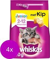 Whiskas Brokjes Junior Kip - Kattenvoer - 4 x 950 g