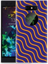 Razer Phone 2 Hoesje blauw oranje lijnen