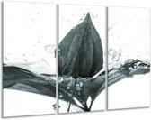 Glas schilderij Bloem | Grijs, Groen | 120x80cm 3Luik | Foto print op Glas |  F006682