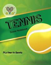 Tennis Score Notebook