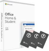 3 x PC/MAC Microsoft Office 2019 Home & Studen