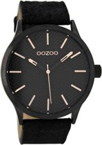 OOZOO Timepieces Zwart horloge C9019 (45 mm)