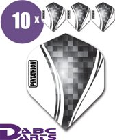 ABC Darts Flights Pentathlon Wave 10 sets (30 Dart Flights) - Zwart