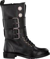 Nikkie Dames Veterboots Coin Boots - Zwart - Maat 41