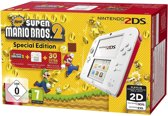 Nintendo 2DS, Console + New Super Mario Bros. 2 - Limited Edition (Wit / Rood)