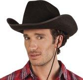Zwarte cowboyhoed Rodeo vilt voor volwassenen