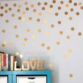Gold Dots Wanddecoratie Muurstickers - Rondjes / Stippen Decoratie Stickers - Muurstickers Slaapkamer / Babykamer / Kinderkamer