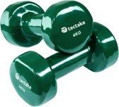 TecTake - set van 2 halters , 2 x 4,0 kilogram - groen - 402361