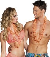 4 stuks: Set a 25 Hawaikransen Elena - Oranje