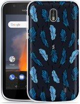 Nokia 1 Hoesje Feathers
