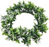 Europalms kunstplant jasmijn kunst Krans - 30cm