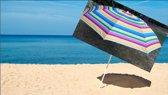 Kleurrijke Parasol  Model 180 & Zandboor - Draagtas - UV bescherming - Kantelbaar
