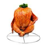BBQ Kiphouder Rooster - Kip Grill Kiprooster - Ronde Kip Chicken Roaster - Kipgrill