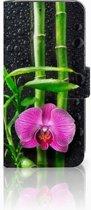 Huawei P20 Lite Bookcase hoesje Design Orchidee