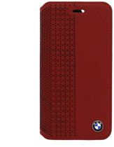Signature Collection Perforated Real Leather BookCover Rood voor Apple iPhone 6