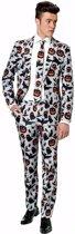 Halloween pompoen/vleermuis print heren kostuum XL (56-58)