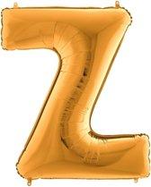 Folieballon letter Z goud (100cm)
