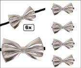 6x Strik zilver 13.5 x 7.5 cm