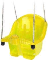 Gele peuterschommel met touw - Kinderschommels/peuterschommels/babyschommels
