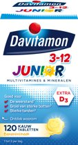 Davitamon Junior 3+ kauwvitamines - banaan - multivitamine - 120 tabletten
